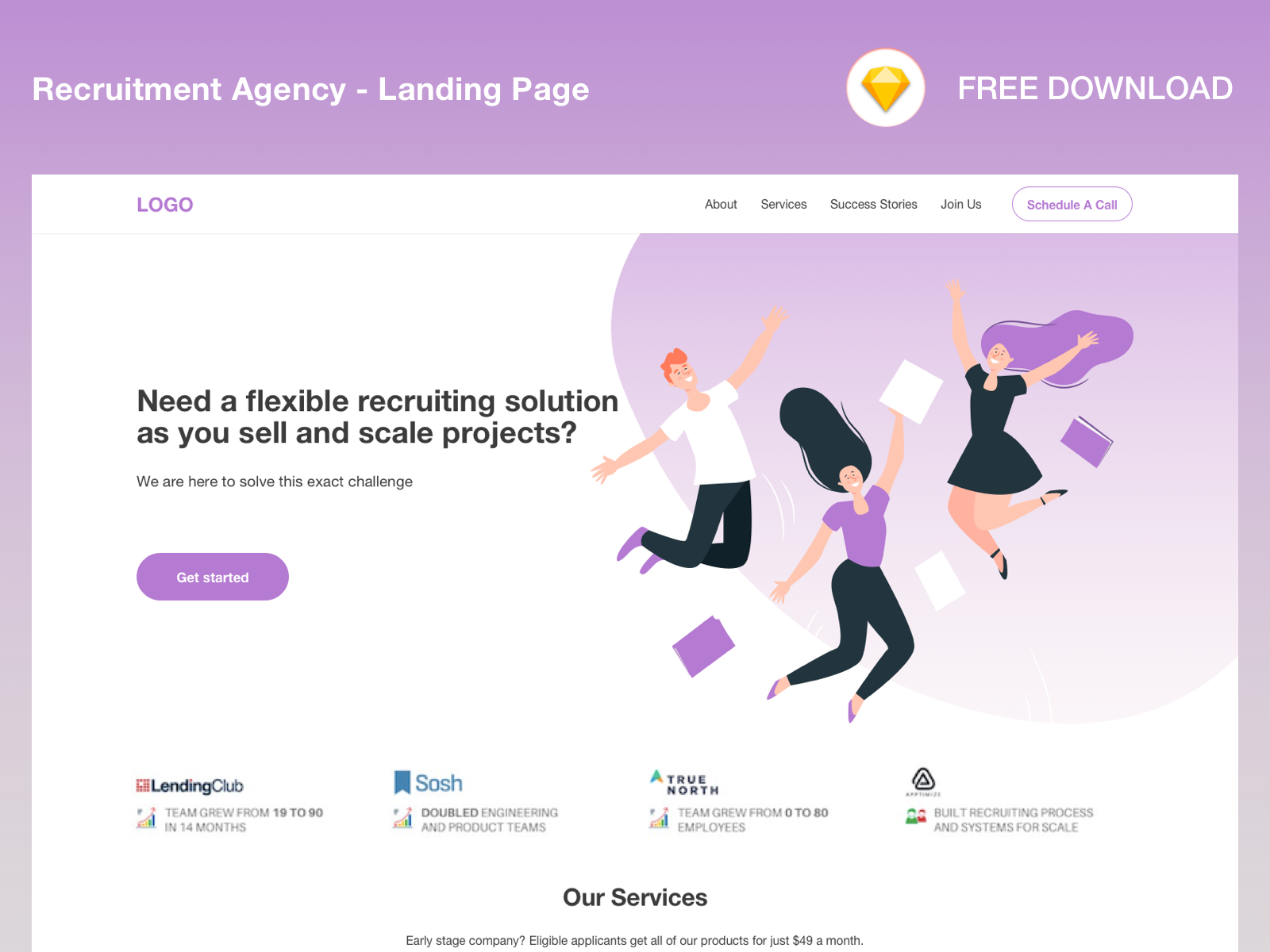 Recruitment Agency_Landing Page cover image