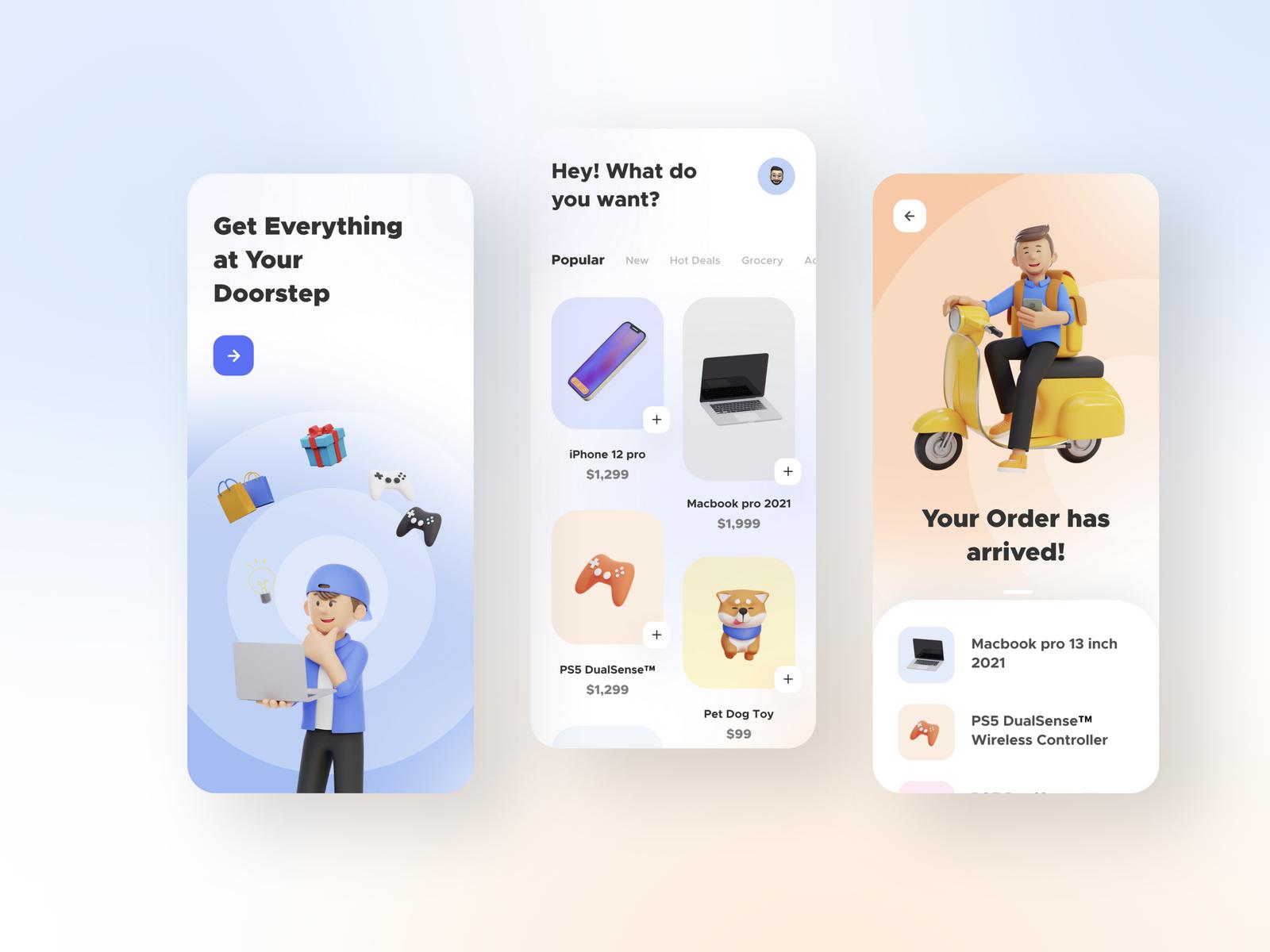 E-commerce App UI Kit  cover image