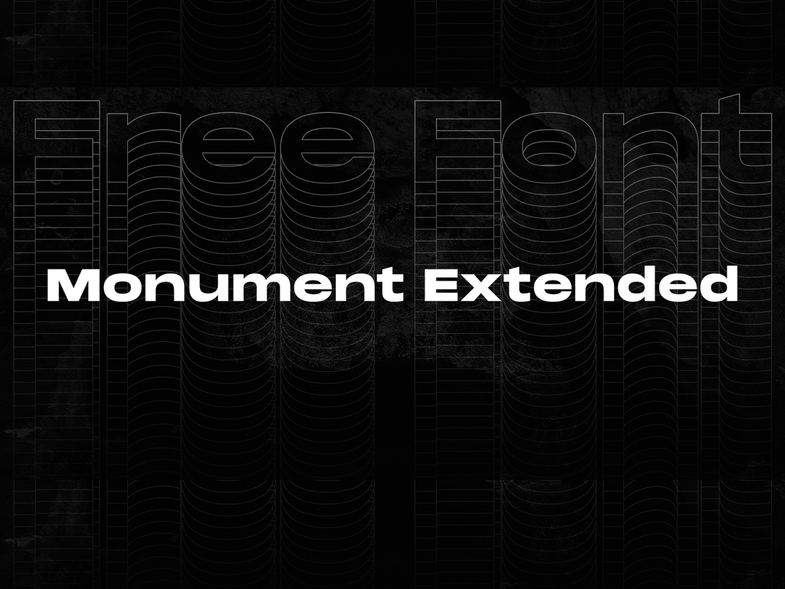 Monument Extended | Free Font cover image