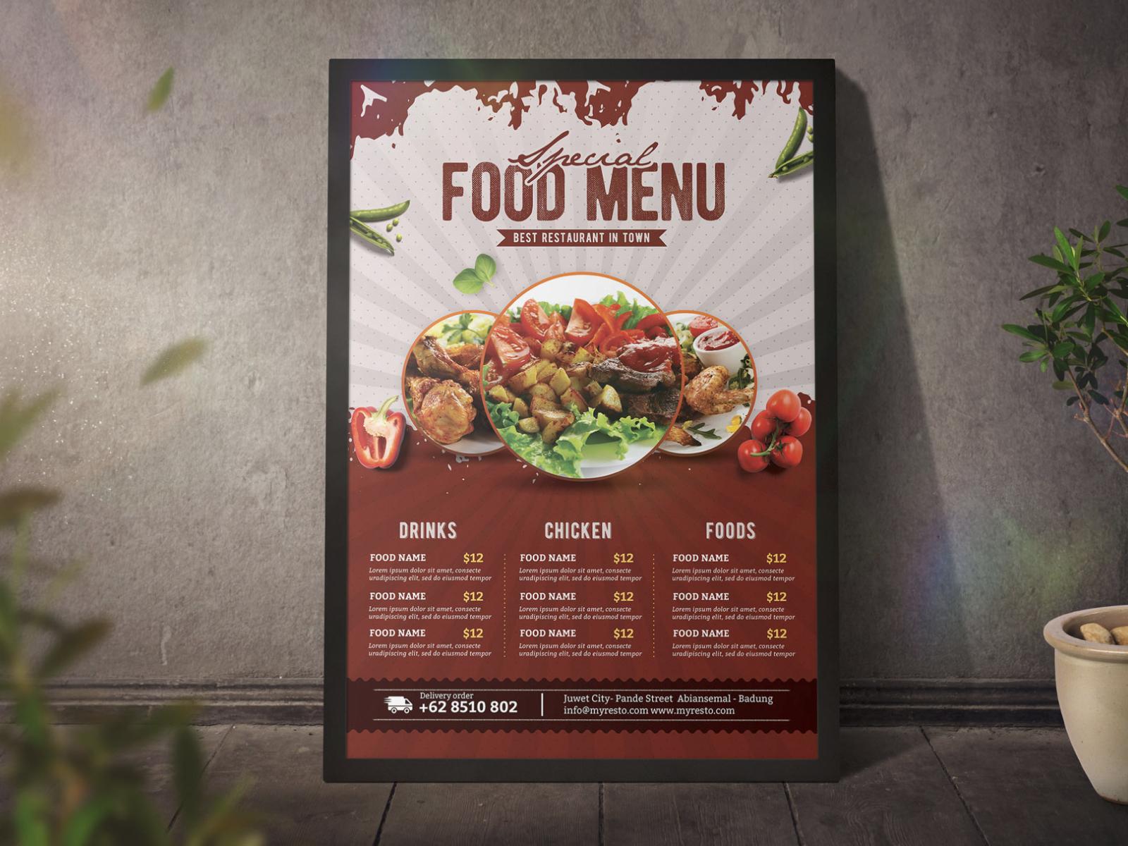 Food Menu Poster Template cover image