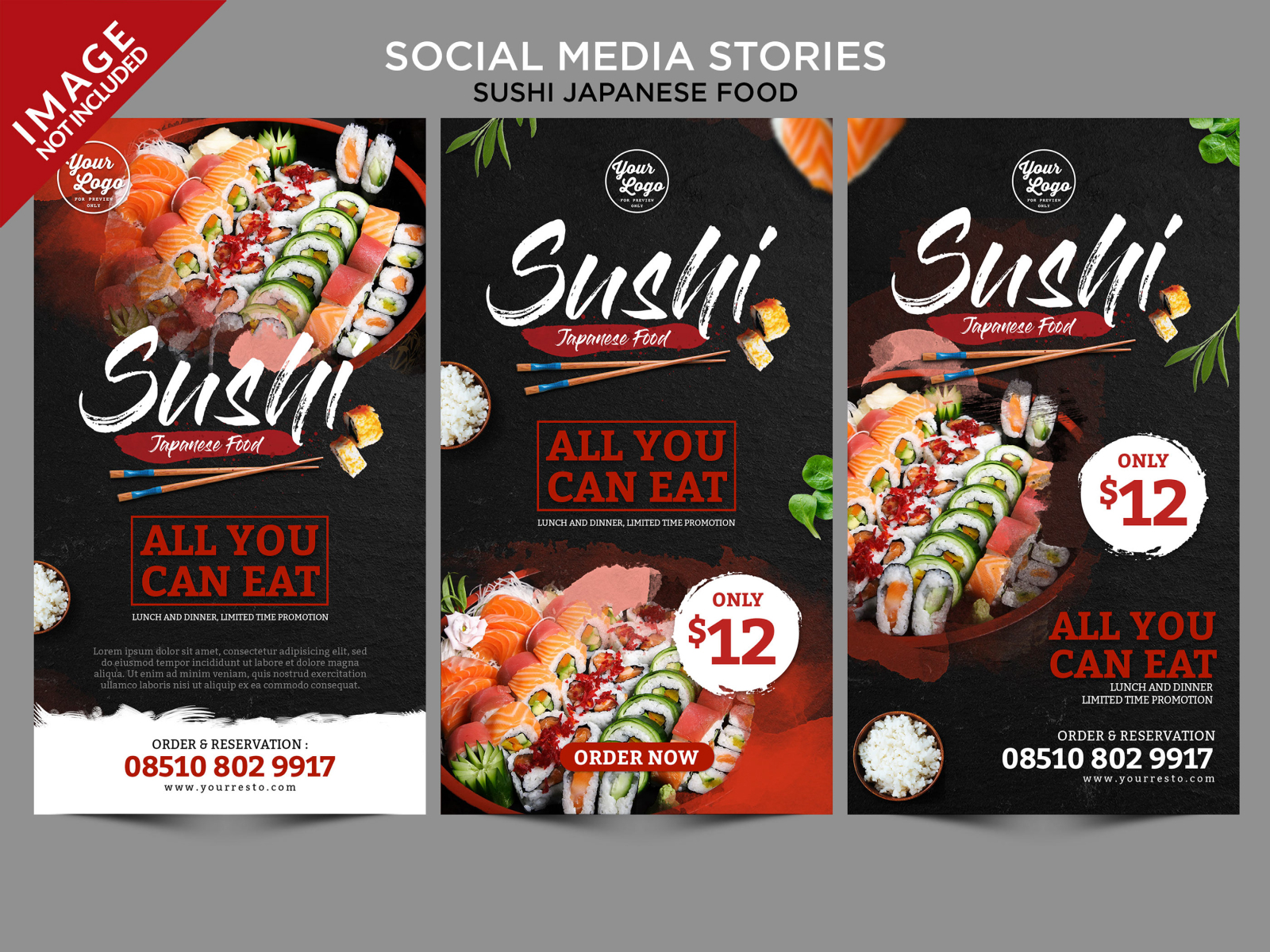 Sushi Japanese Food Social Media Stories cover image