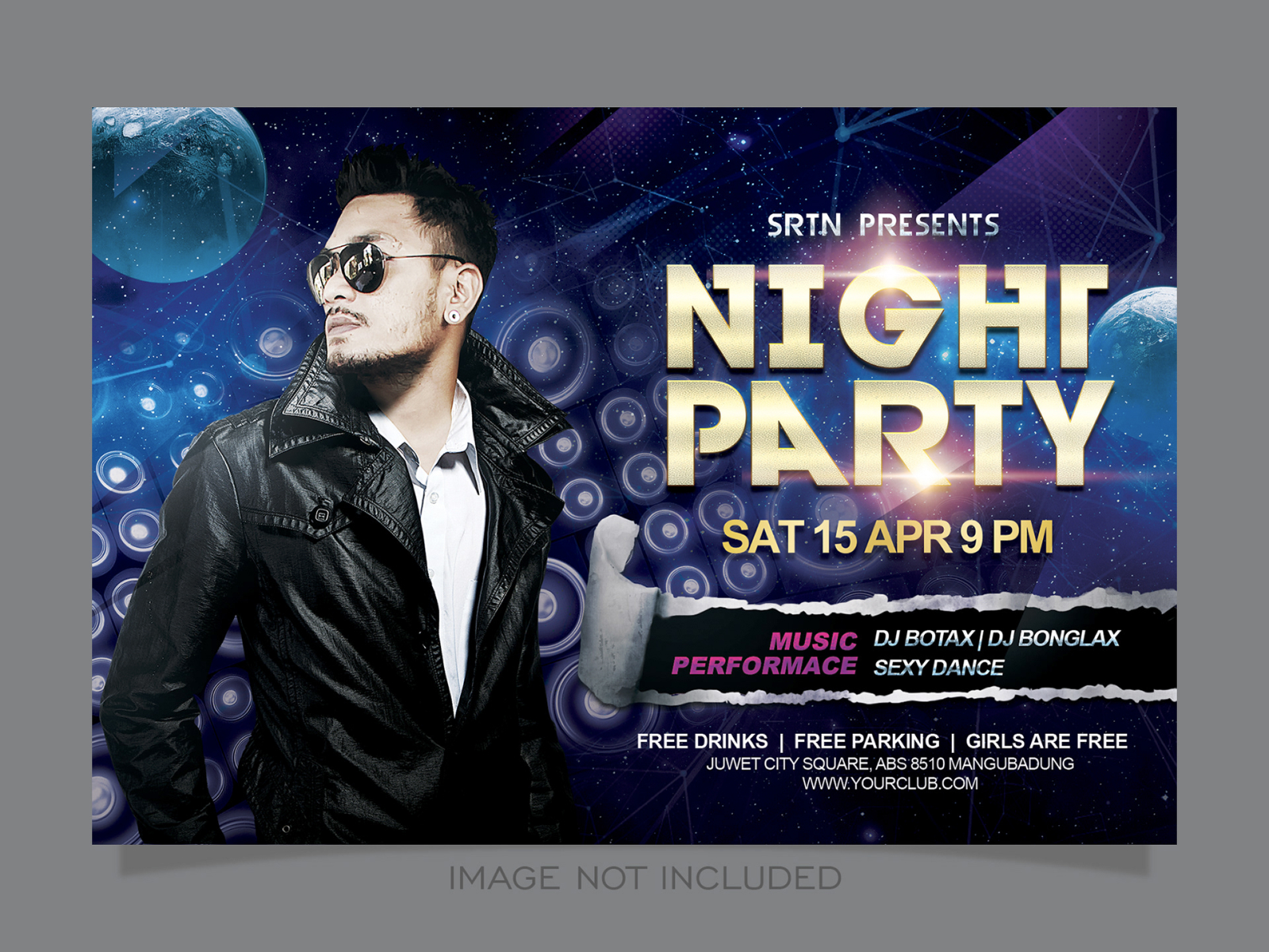 Night Party Flyer Template cover image