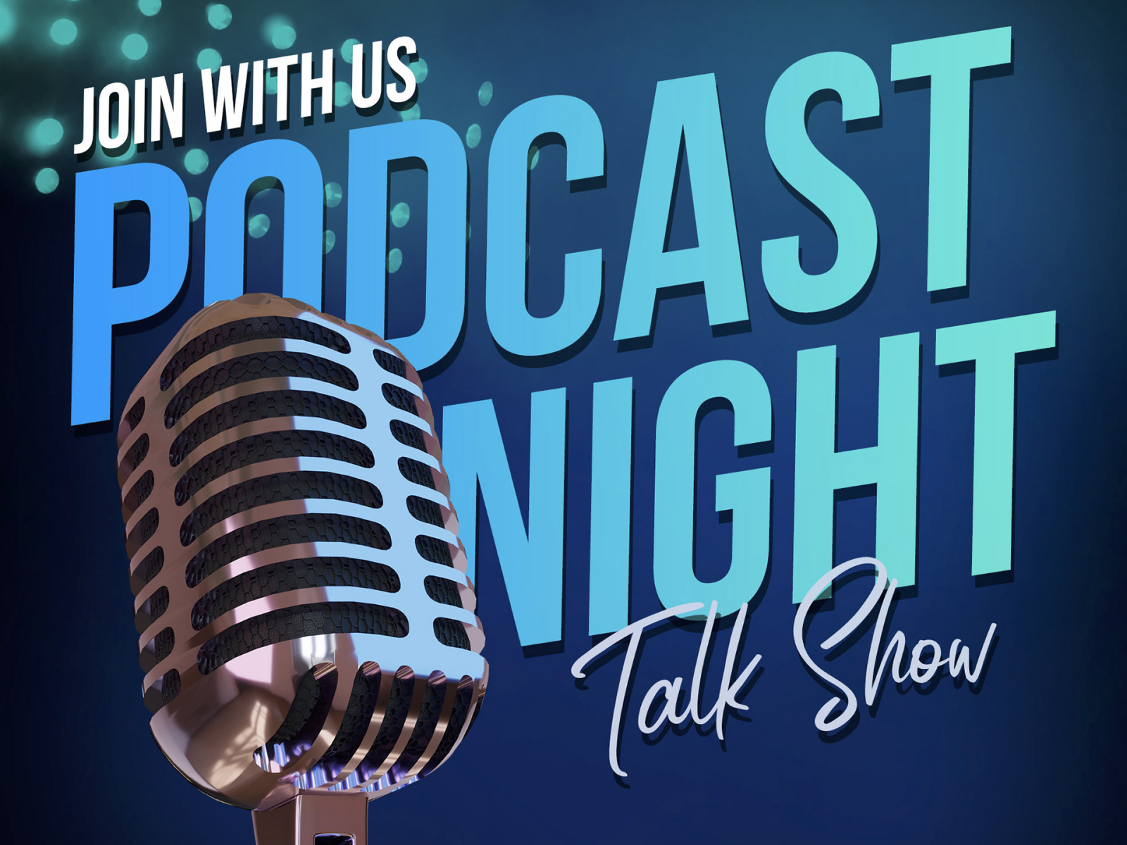 Podcast Night Talkshow Template cover image