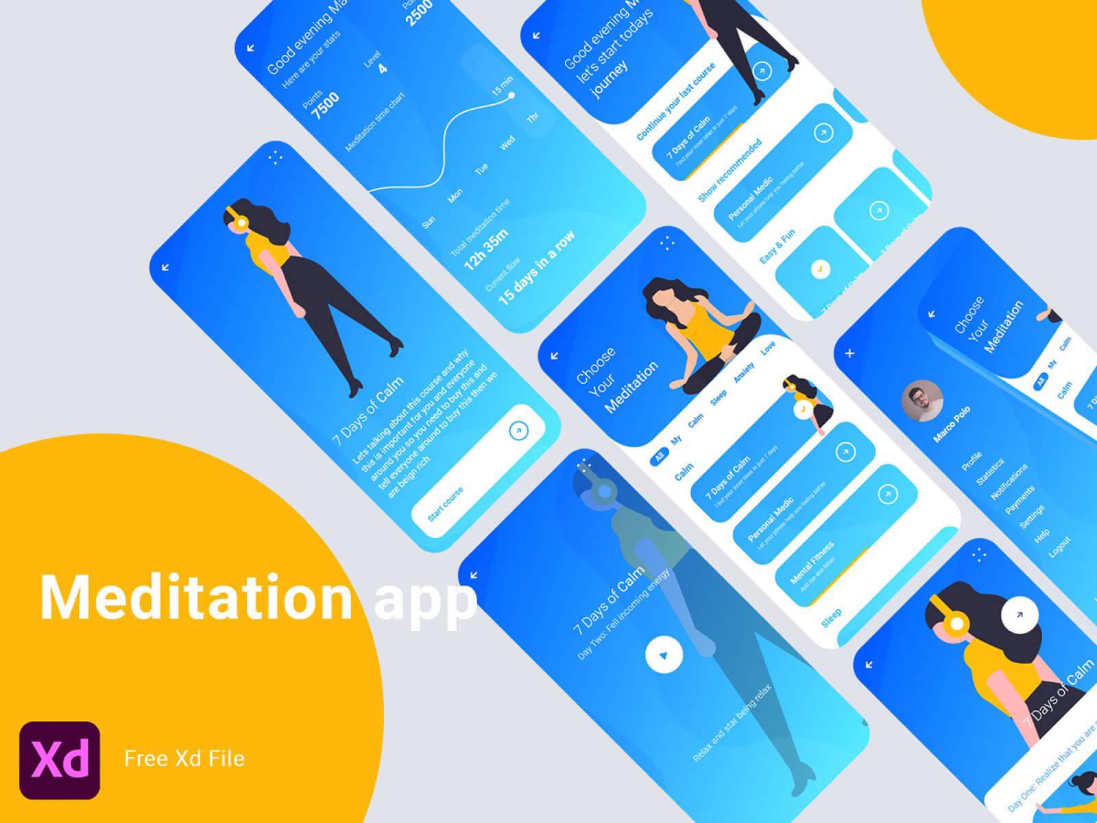 Meditation App Concept cover image