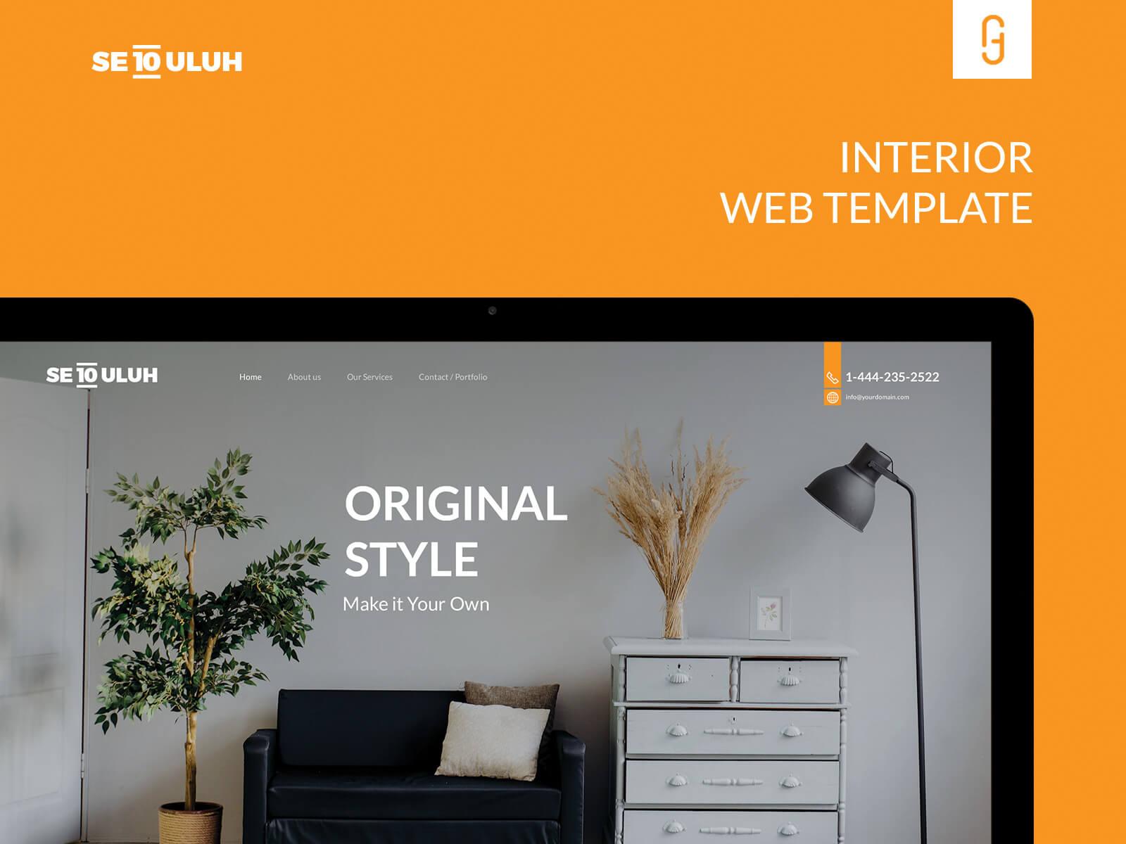 Sepuluh Interior Free Web Template cover image