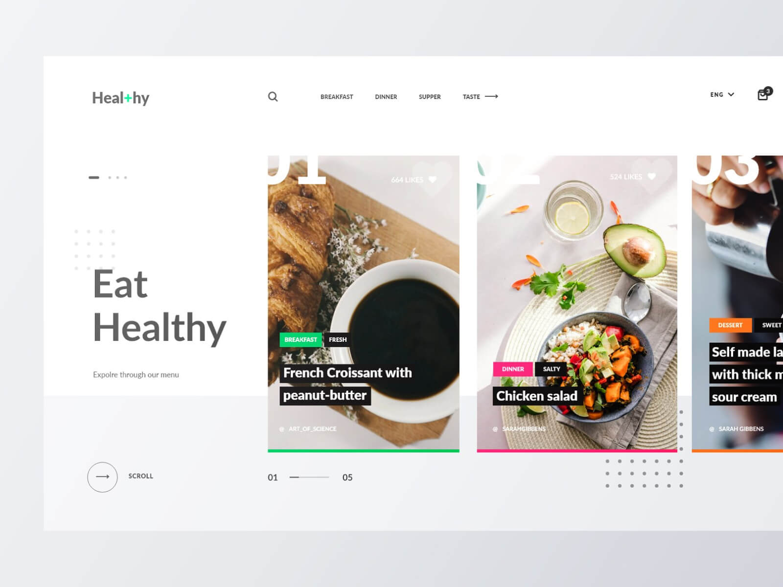 Heal+h Food Blog Concept cover image