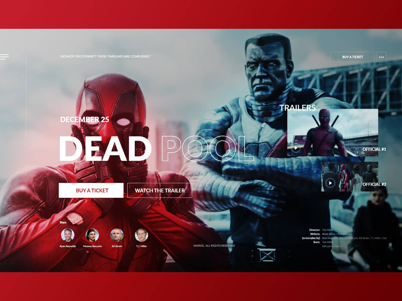 Deadpool Webpage cover image