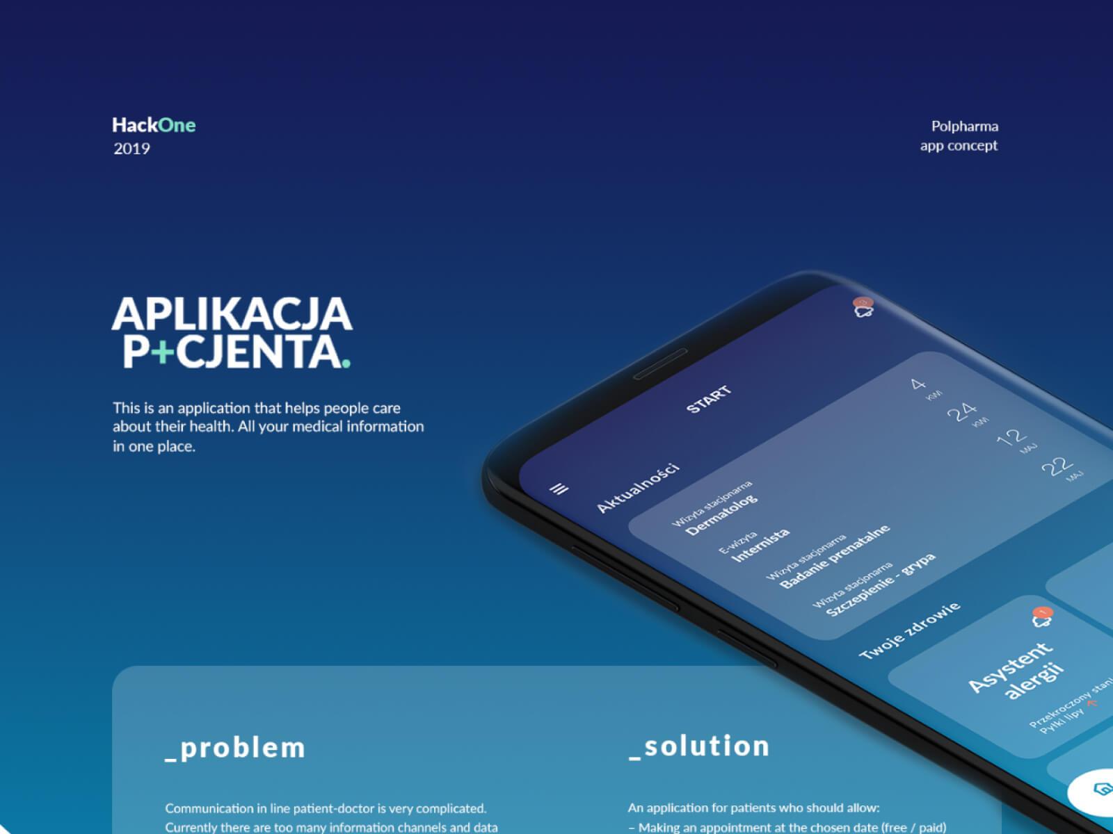 Healthcare app - Hackathon concept cover image