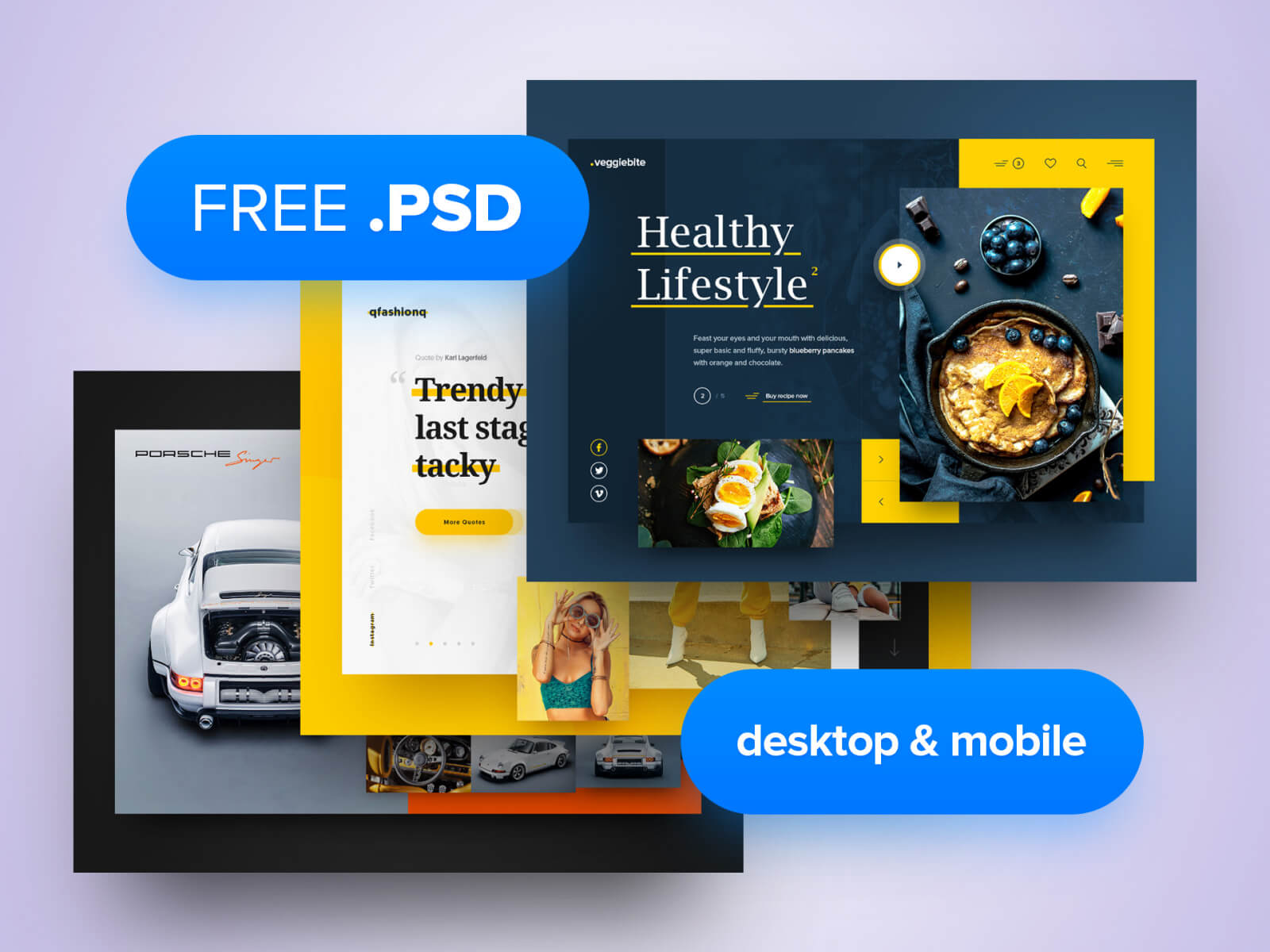 3x Free PSD cover image