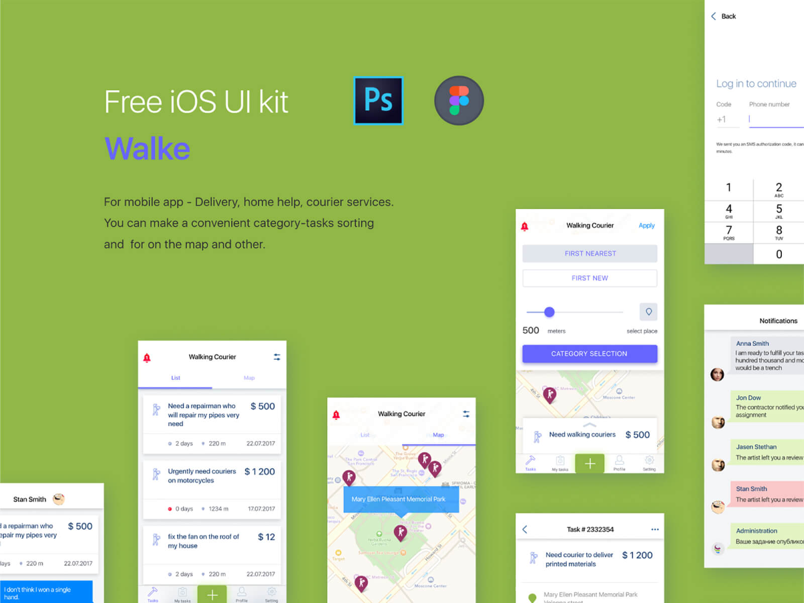 Walke. FREE iOS kit cover image