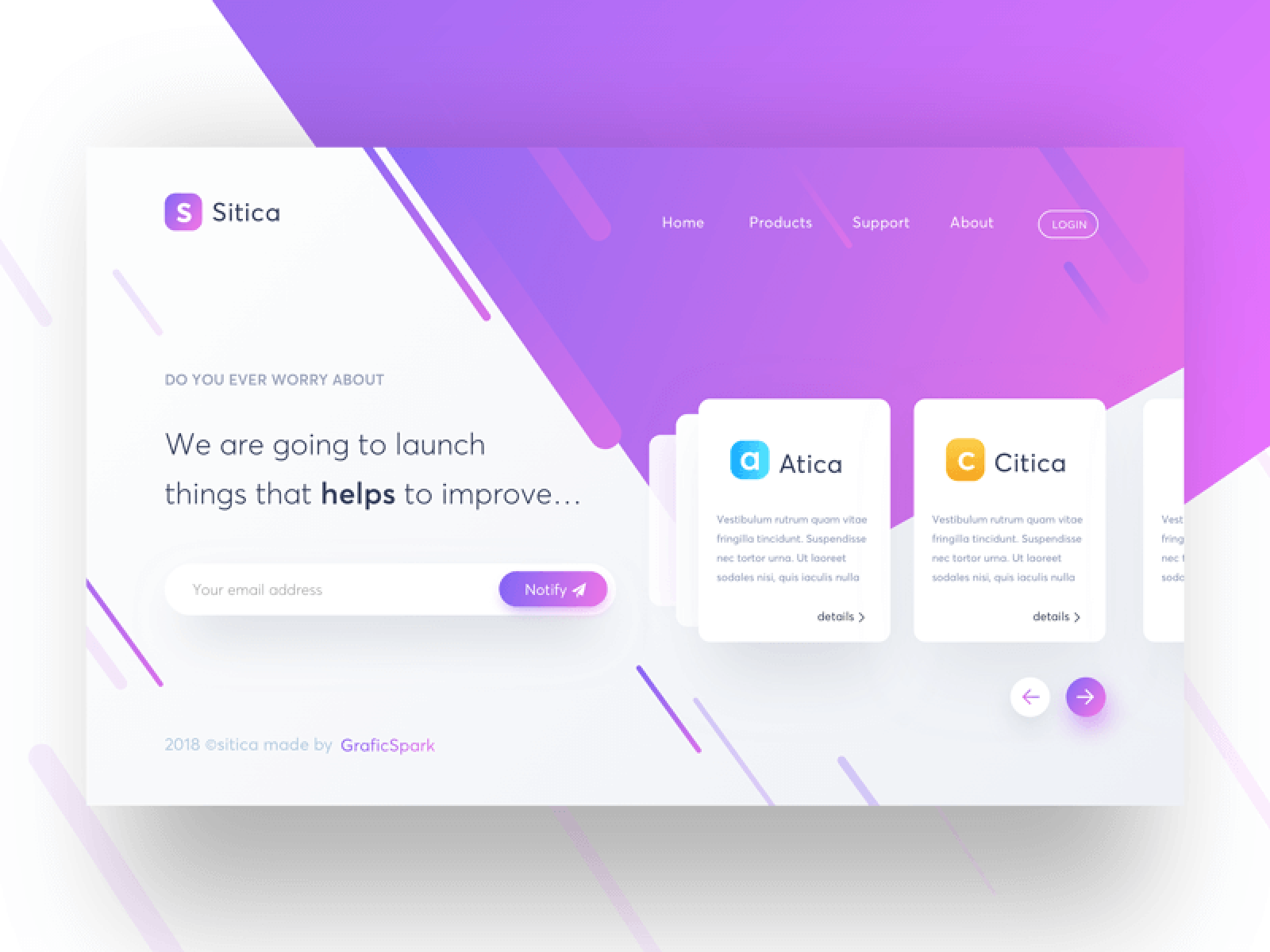 Freebie - Sitica Landing Page Concept #2 cover image