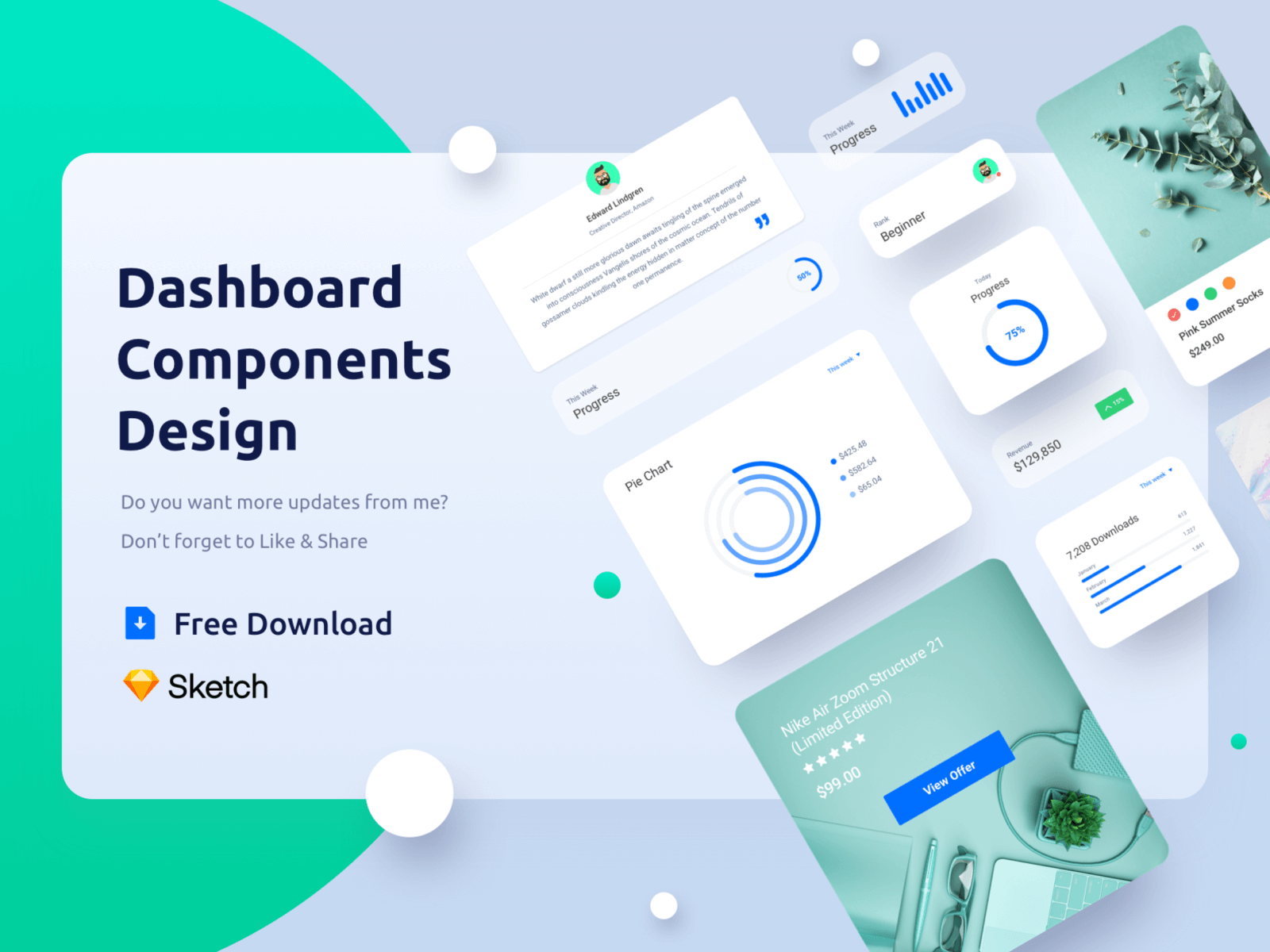 Freebie Dashboard Components Design cover image