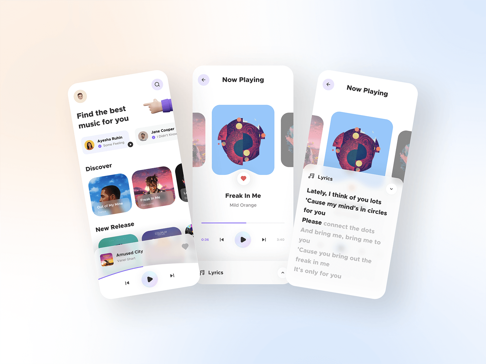 Music Player App UI cover image