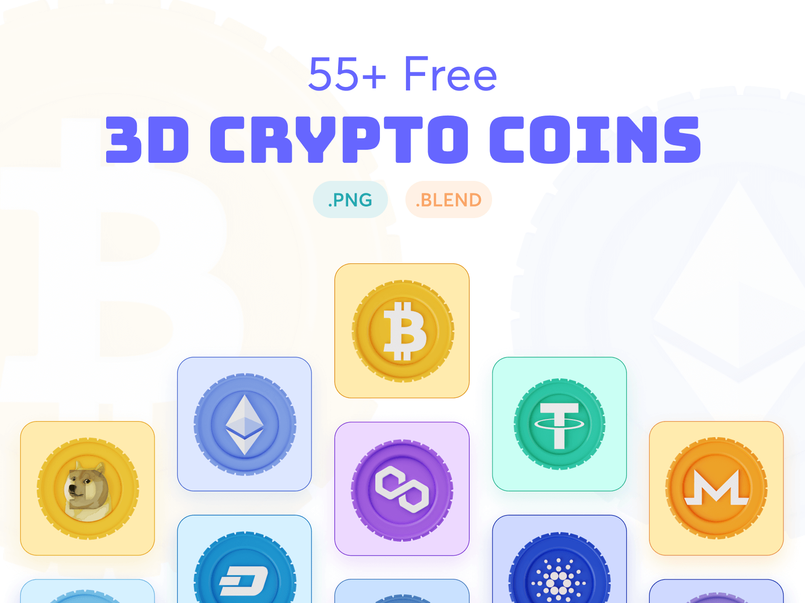 Cryptocurrency 3D Illustration Pack cover image