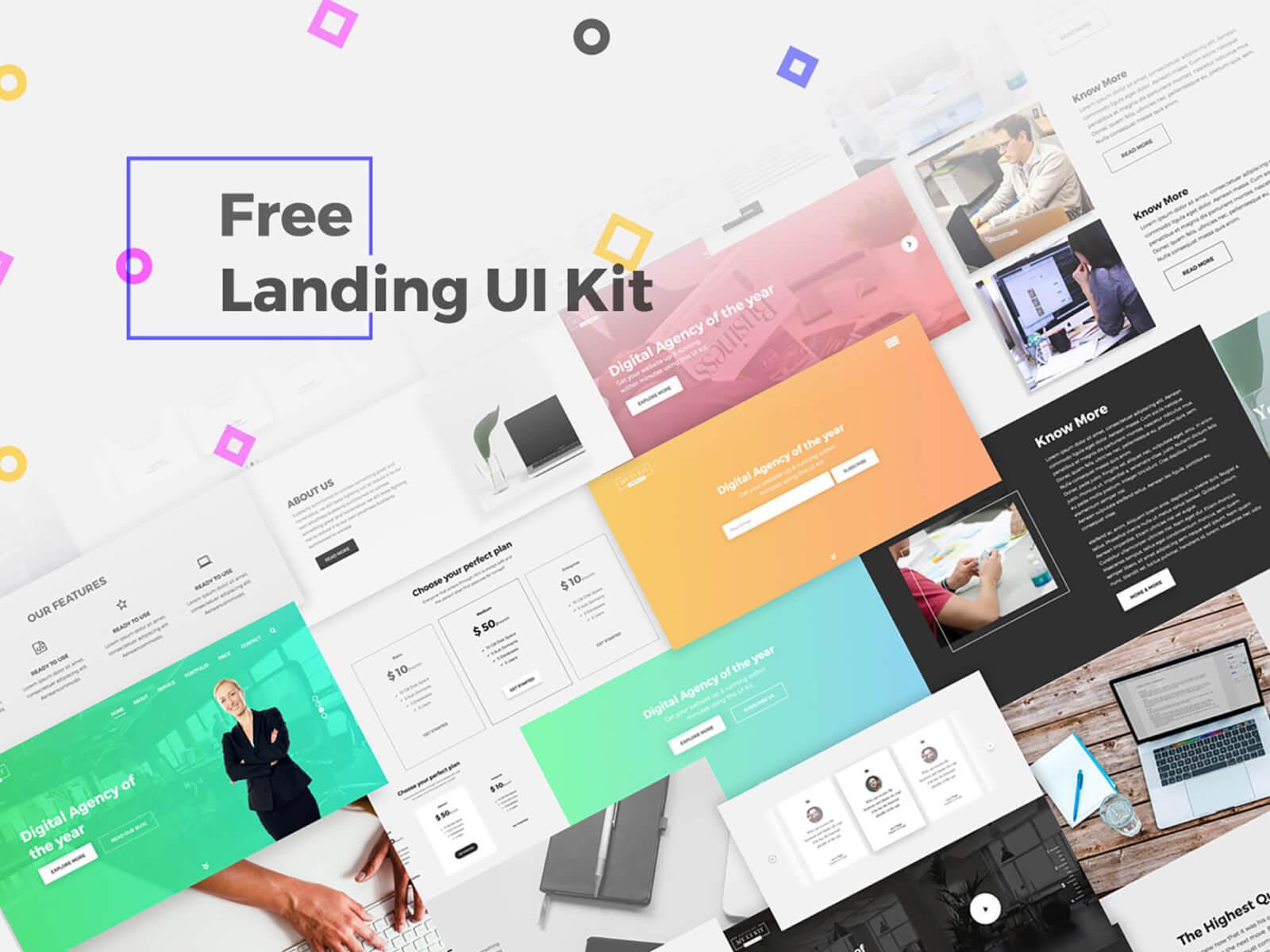 Free Landing UI Kit cover image