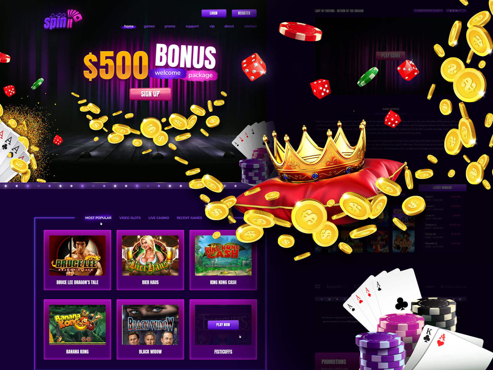 Spin It PSD Casino Template cover image