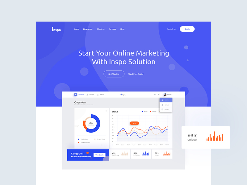 Inspo Web Concept - Free Template cover image