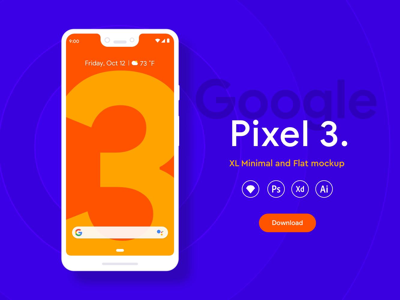 Pixel 3 XL mockup cover image