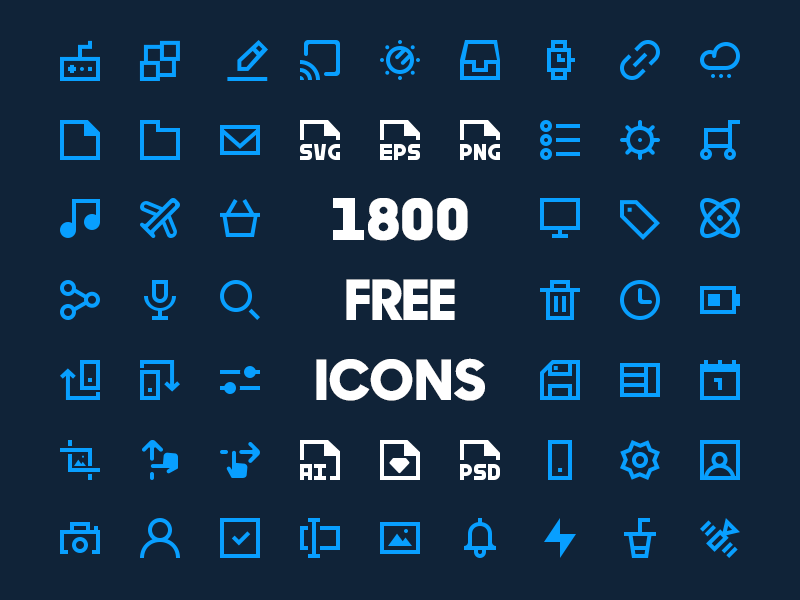 1800 Free Minimal Icon Pack [20x20] cover image