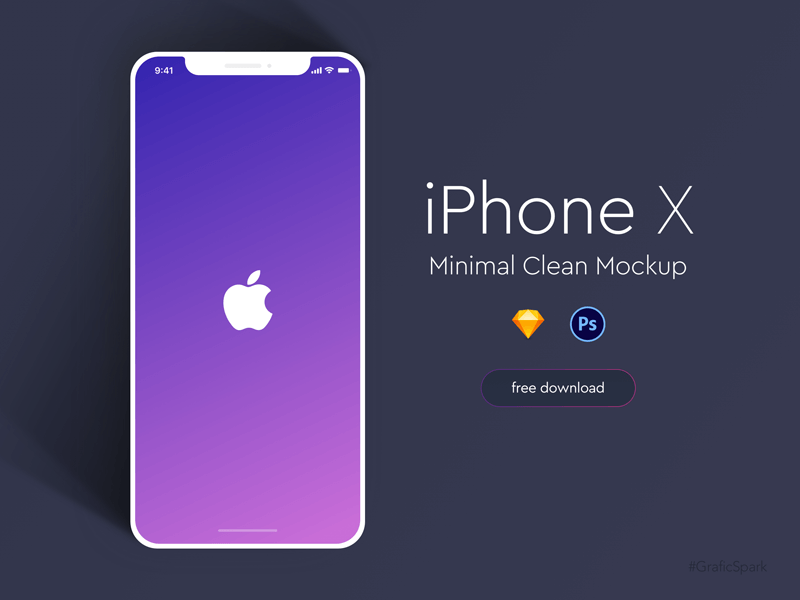 iPhone X Minimal Clean Mockup cover image