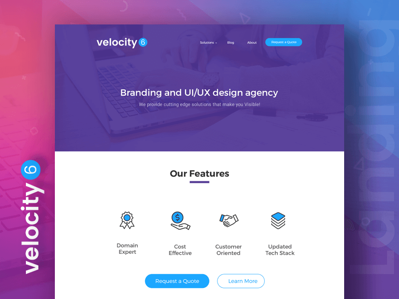 Velocity 6 Landing Page cover image