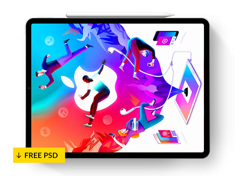 IPad Pro + Pencil 2018 – Mockup 💎 cover image