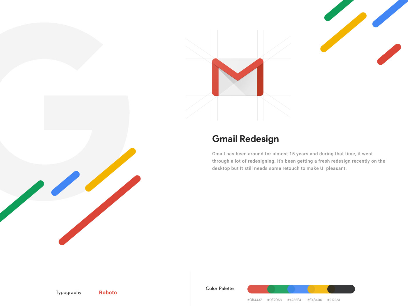 Gmail Redesign - Freebie cover image