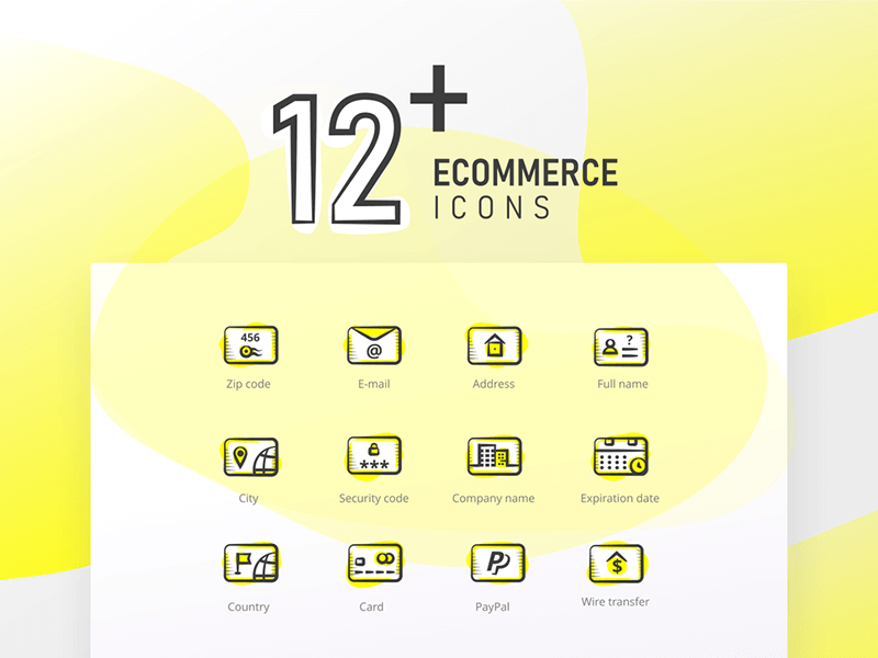 12+ E-commerce Icons cover image