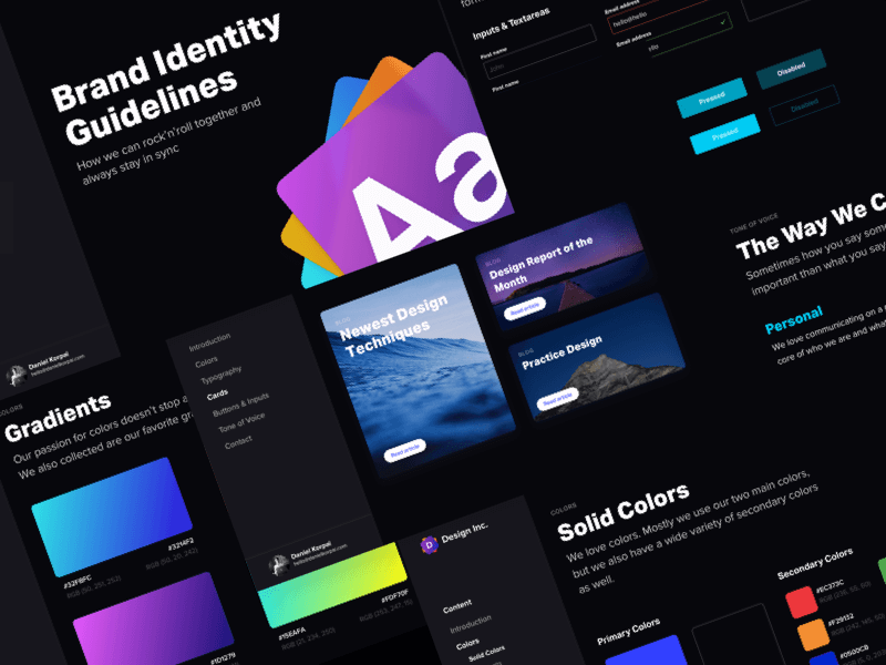 Brand Identity Guidelines 2.0 - Dark Edition cover image