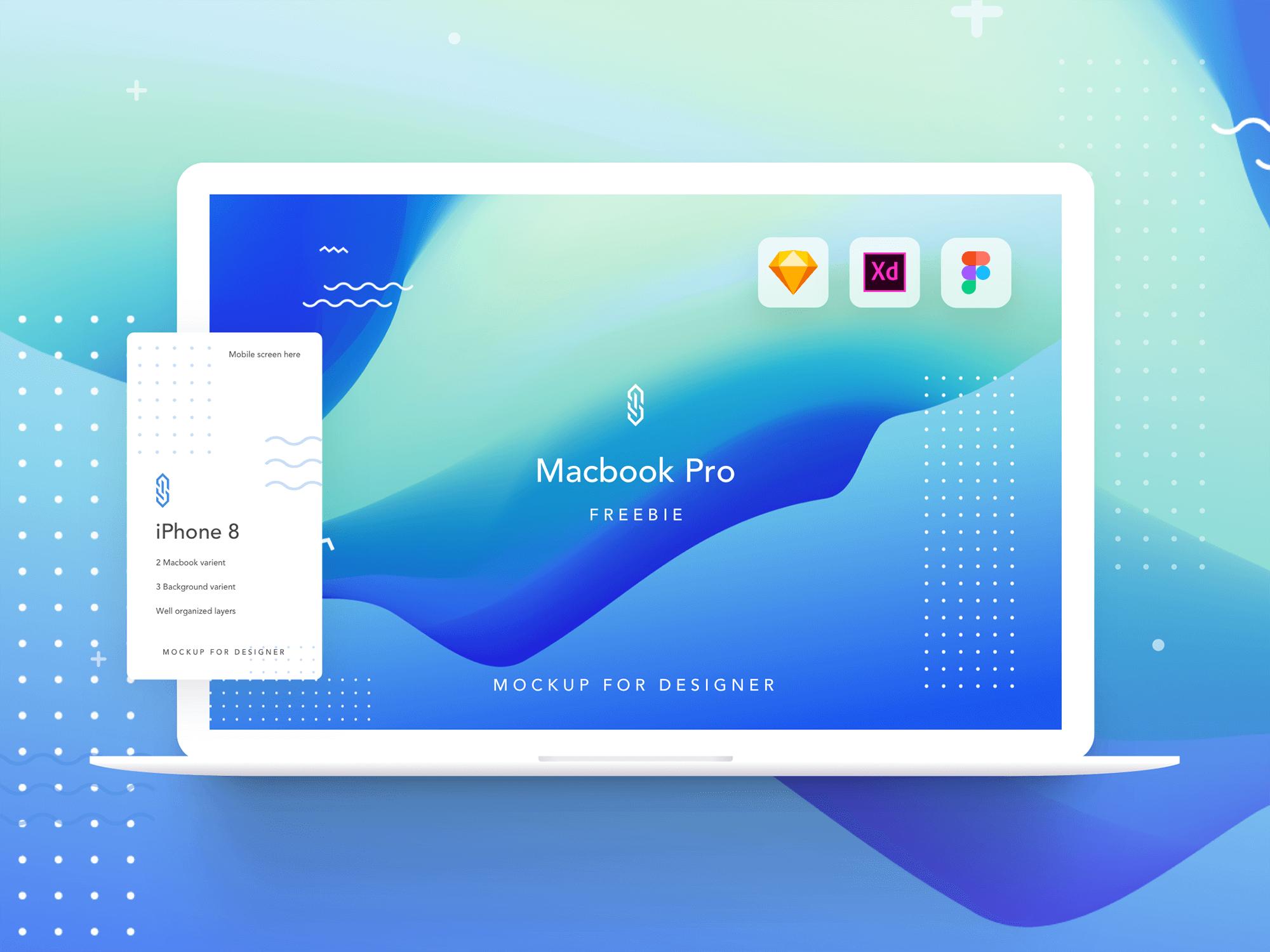 Mackbook Pro mockup presentation image
