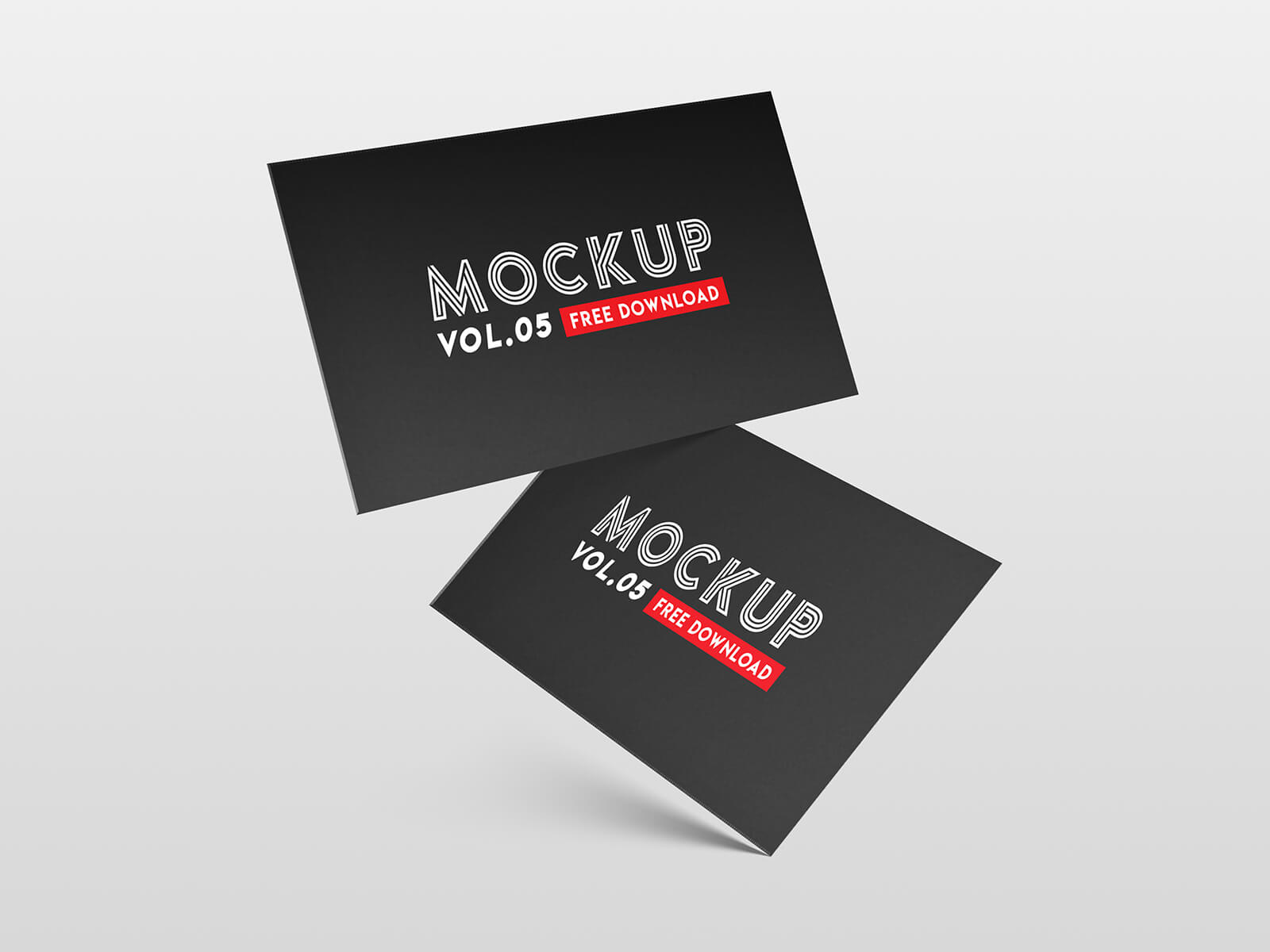 Business card PSD Mockup presentation image