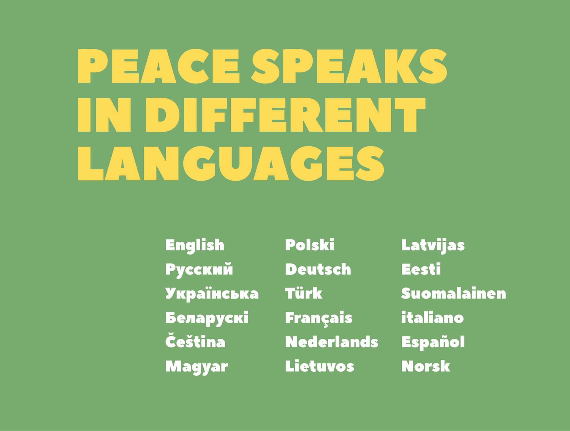 Peace Sans Free Font presentation image