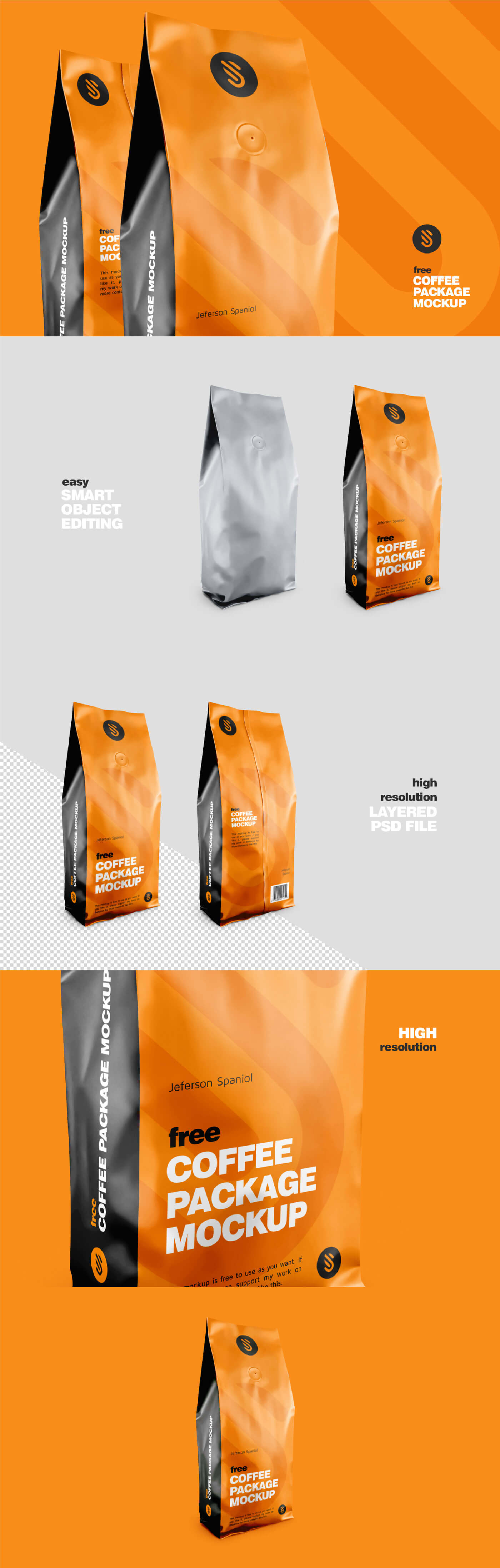 Free Coffee Package Mockup presentation image