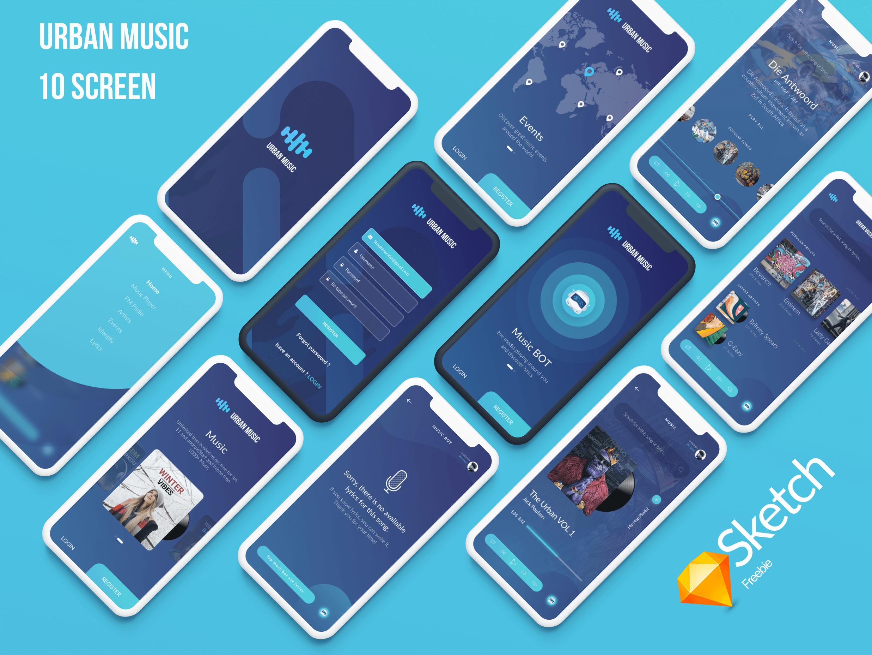 Urban Music UI presentation image