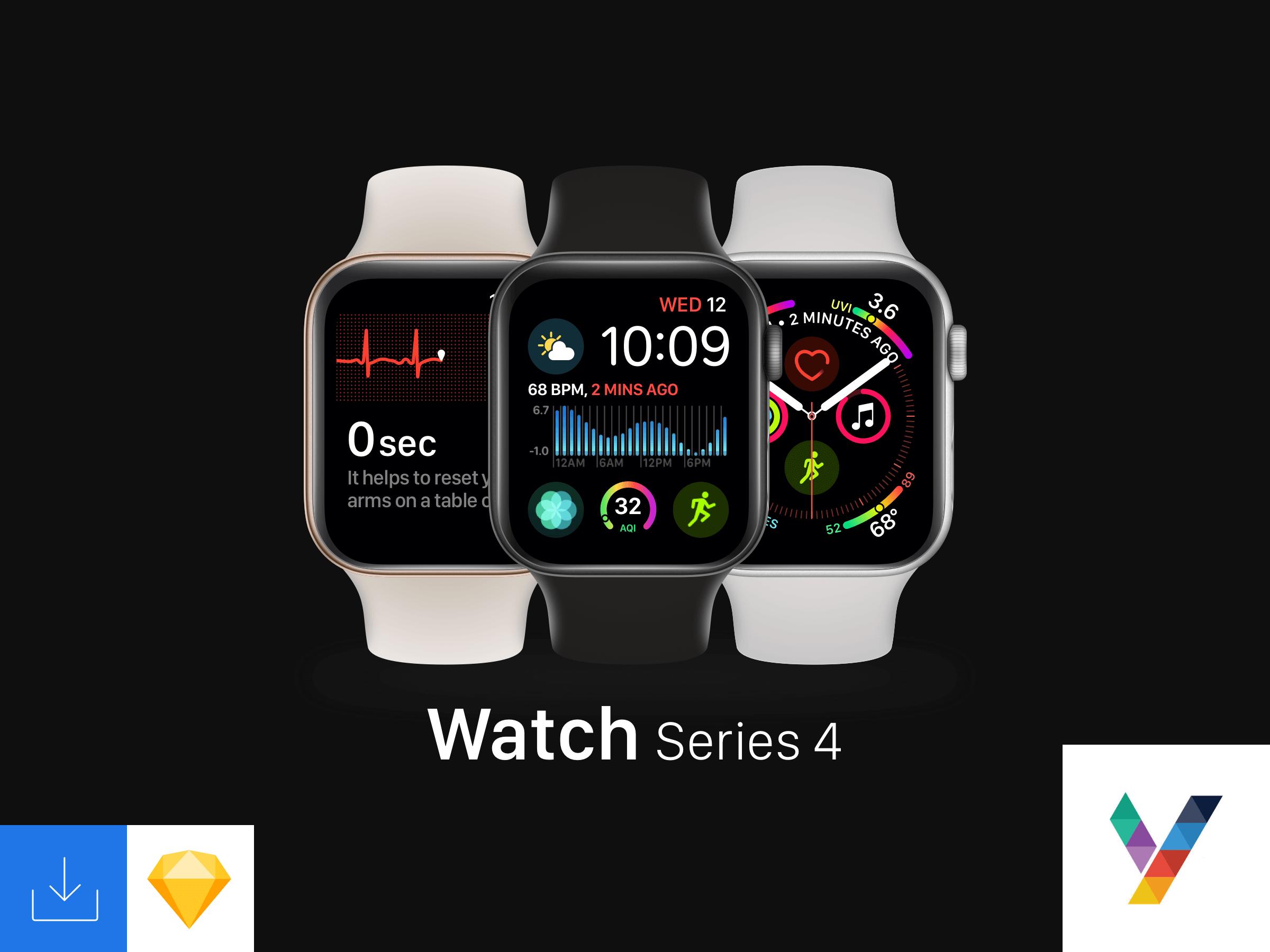 Watch Series 4 Mockup presentation image