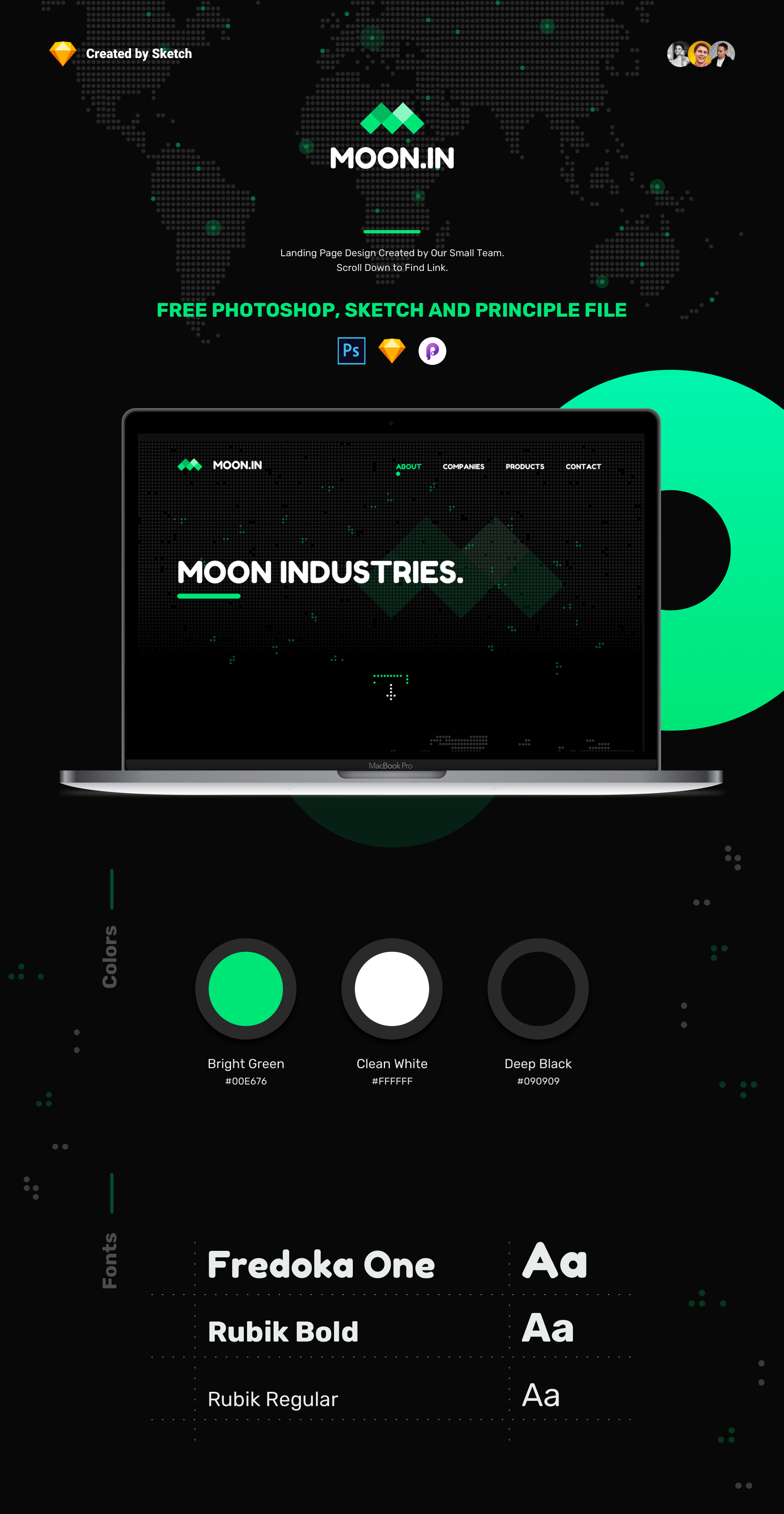 Freebie MOON.IN presentation image