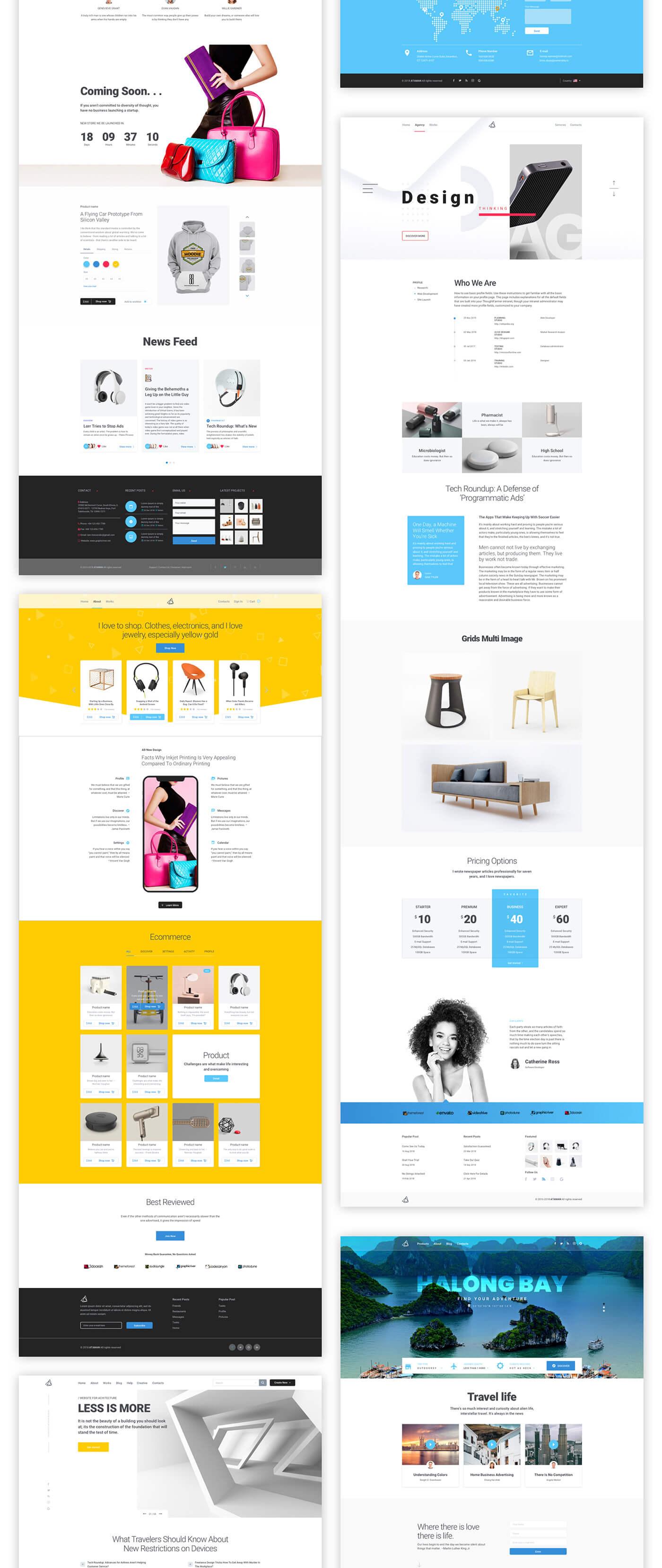 Ataman Web UI Kit - Templates For Sketch & Photoshop CC