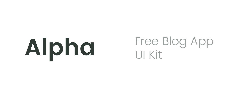 Alpha - Free Sketch UI Kit presentation image
