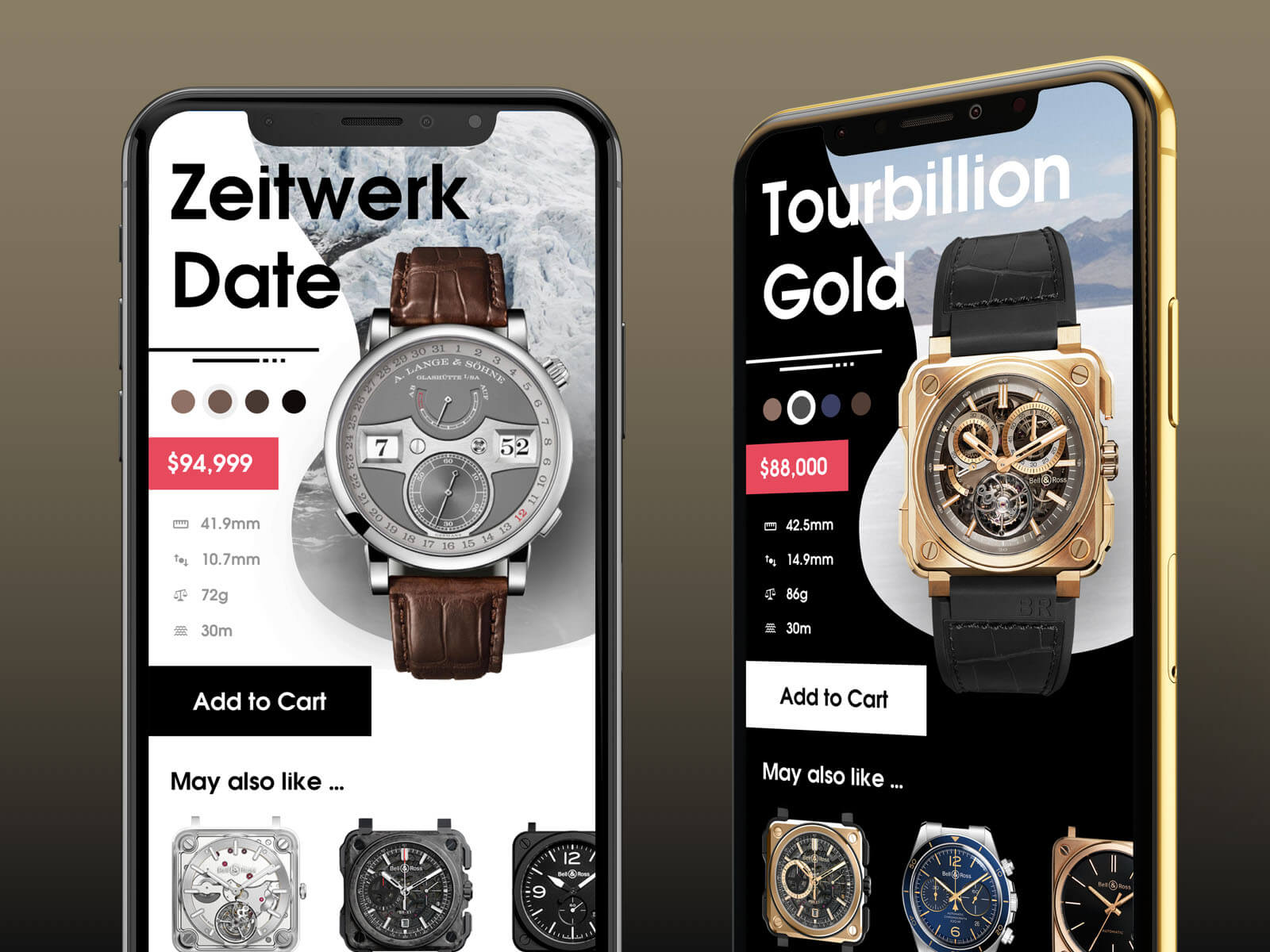 Luxury Watch Application presentation image