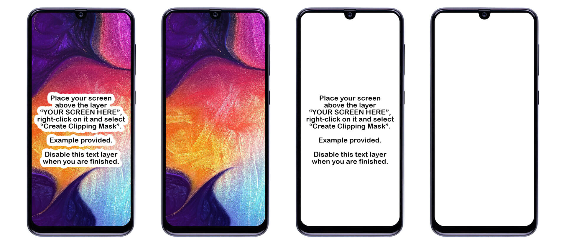 Samsung Galaxy A50 Mockup PSD presentation image