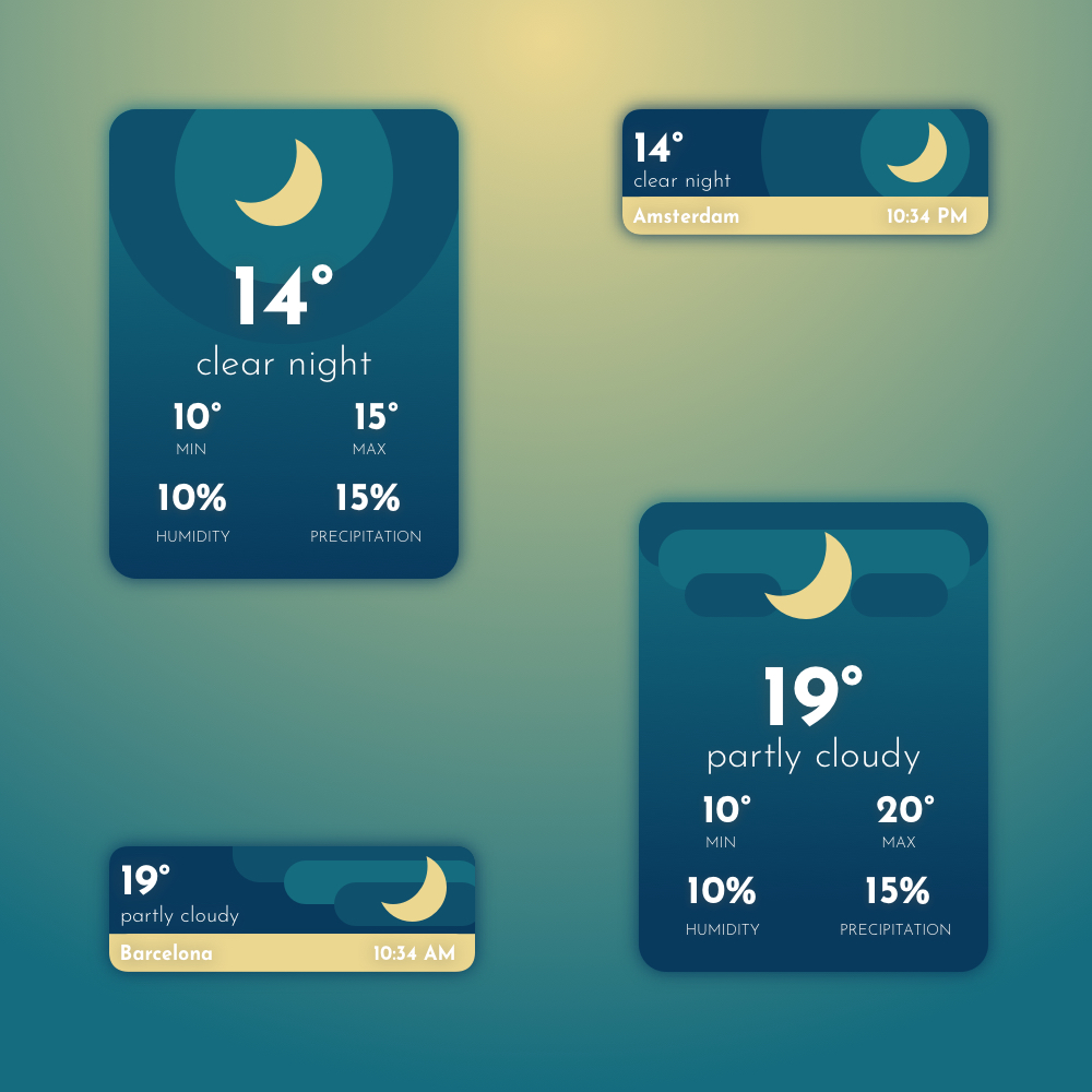 Sunly - Free weather cards presentation image