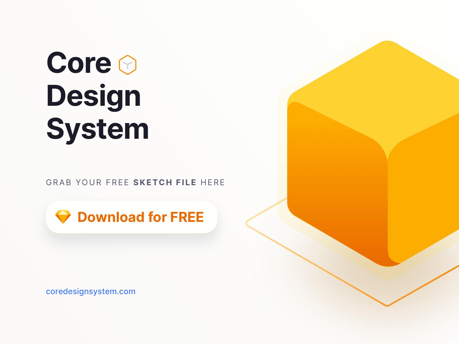 Core Design System - Sketch Free File presentation image