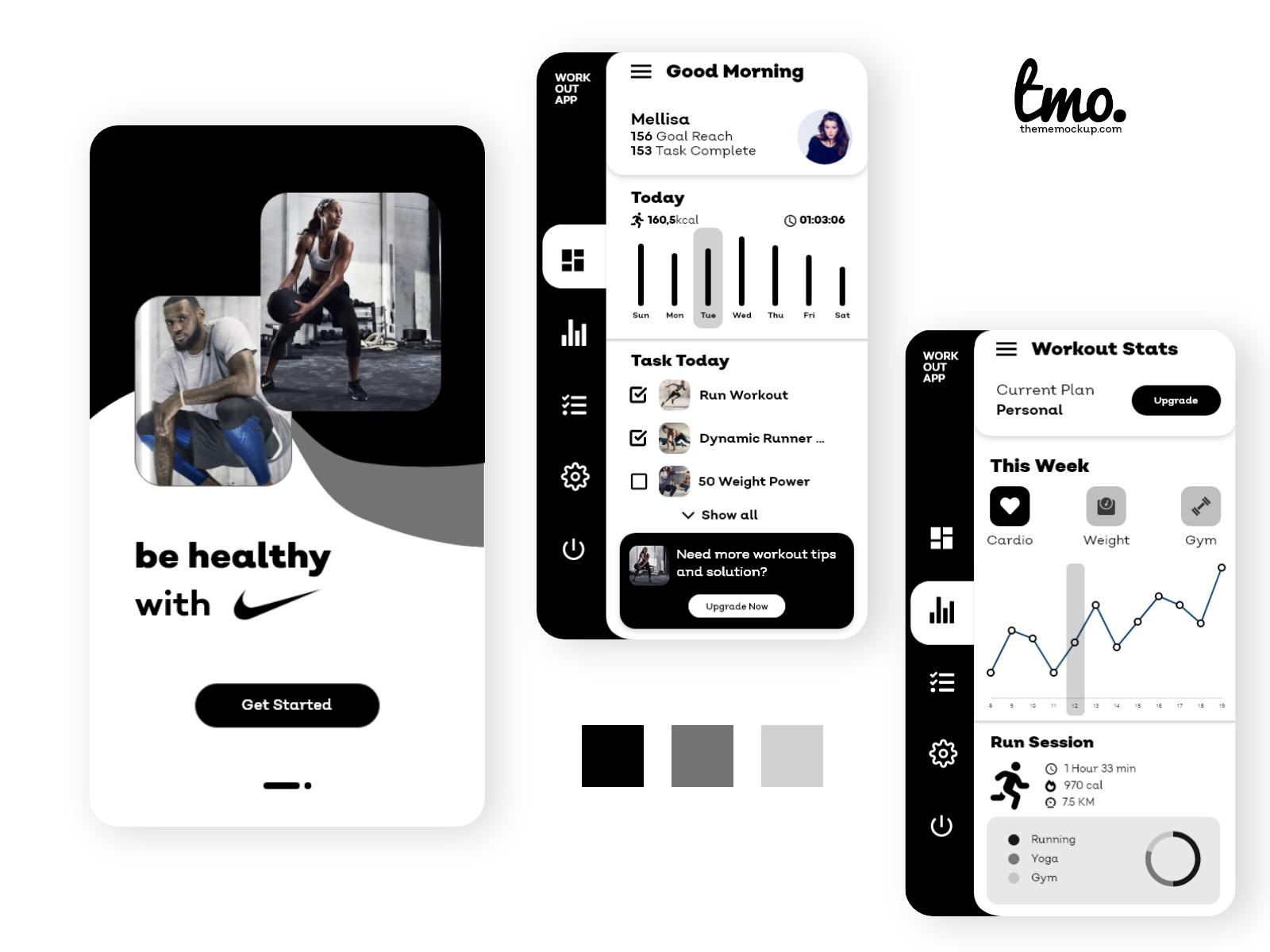 Nike Workout Redesign App Concept presentation image