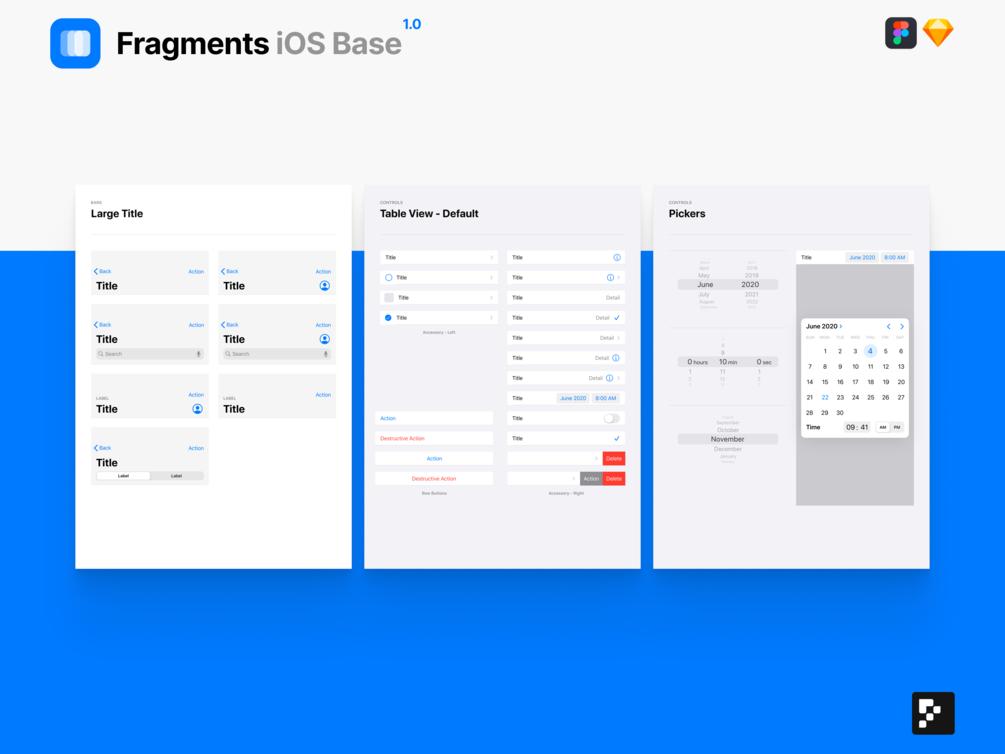 Fragments iOS Base presentation image